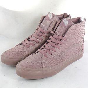 Rare VANS SK8-HI Slim Zip DX Mono Python Sneakers